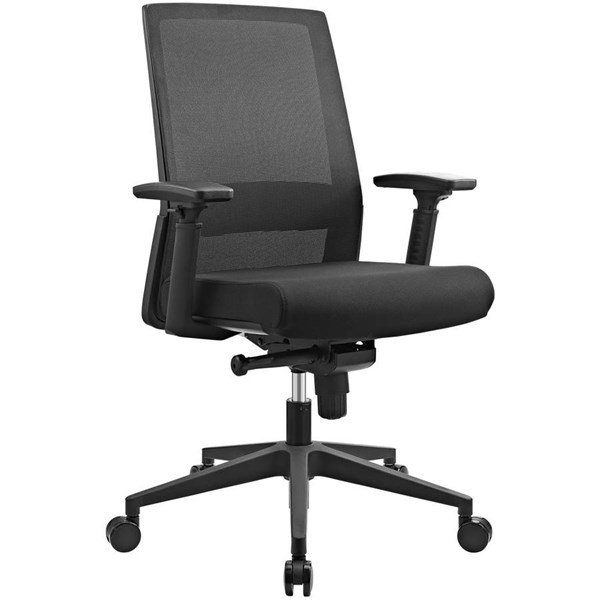 Modway Furniture Turn Fabric Office Chair EEI-2213-BLK