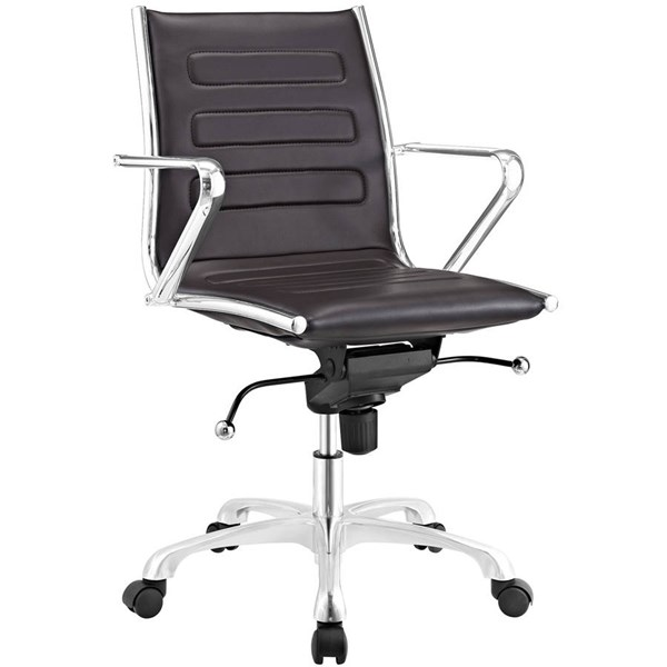 Modway Furniture Ascend Brown Mid Back Office Chair EEI-2214-BRN