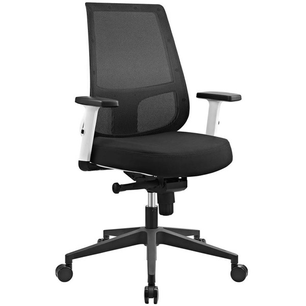 Modway Furniture Pump White Frame Office Chair EEI-2216-BLK