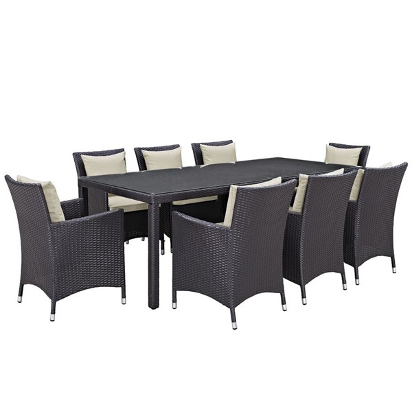 Modway Furniture Convene 9pc Outdoor Patio Dining Sets EEI-2217-OD-DS-VAR