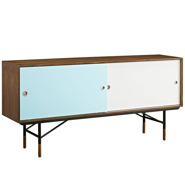 Modway Furniture Envoy Walnut White TV Stand EEI-2238-WAL-WHI