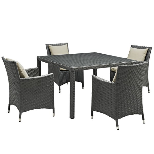 Modway Furniture Sojourn 5pc Outdoor Patio Dining Sets EEI-2244-OD-DS-VAR