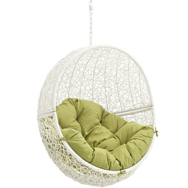 Modway Furniture Hide White Peridot Outdoor Swing Chair with Stand EEI-2273-WHI-PER