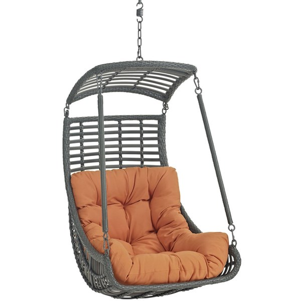 Modway Furniture Jungle Orange Outdoor Patio Swing Chair EEI-2274-ORA-SET