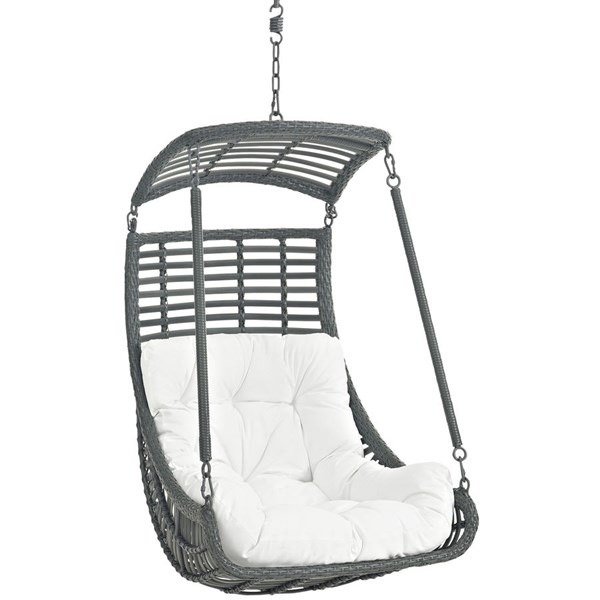 Modway Furniture Jungle White Outdoor Patio Swing Chair EEI-2274-WHI-SET