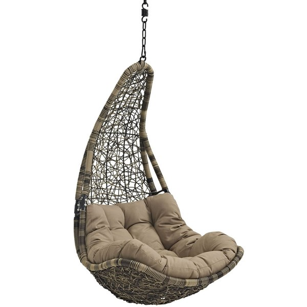 Modway Furniture Abate Outdoor Patio Swing Chair EEI-2276-BLK-MOC-SET