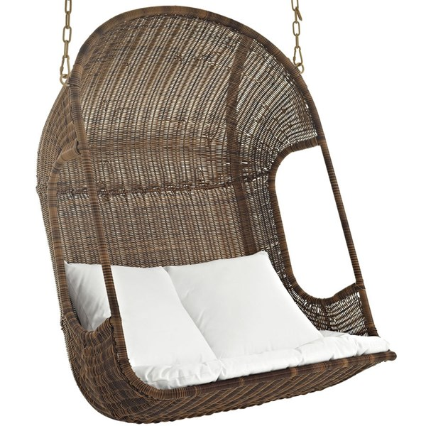Modway Furniture Vantage Outdoor Patio Swing Chair EEI-2278-BRN-WHI-SET