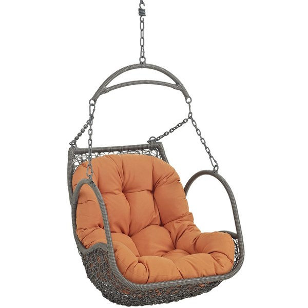 Modway Furniture Arbor Orange Outdoor Patio Swing Chair EEI-2279-ORA-SET