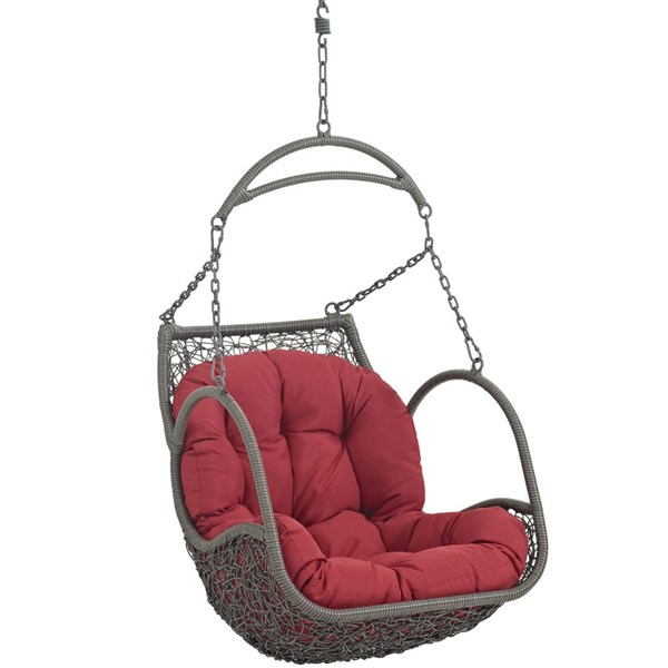 Modway Furniture Arbor Red Outdoor Patio Swing Chair EEI-2279-RED-SET