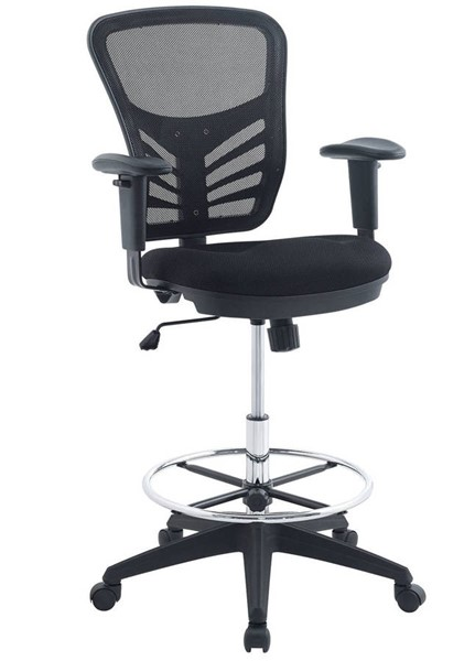 Modway Furniture Articulate Black Drafting Chair EEI-2289-BLK
