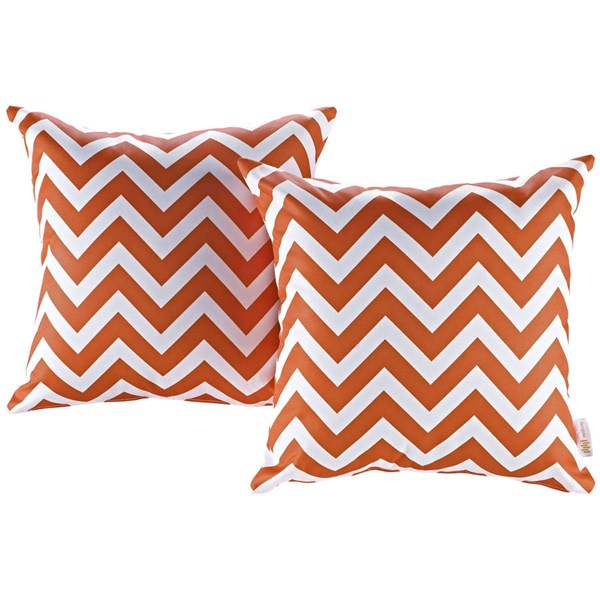 2 Modway Furniture Chevron Outdoor Patio Pillows EEI-2401-CHE