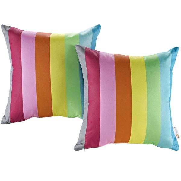 2 Modway Furniture Rainbow Outdoor Patio Pillows EEI-2401-RAN