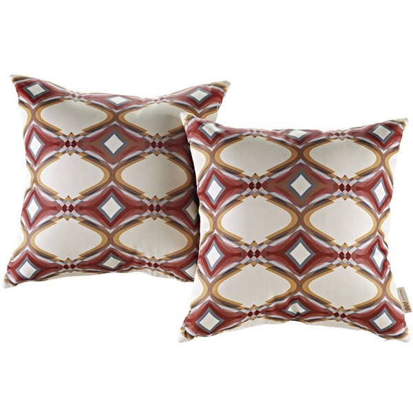 2 Modway Furniture Modway Red Outdoor Patio Pillows EEI-2401-REP