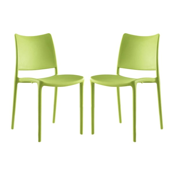 2 Modway Furniture Hipster Green Dining Side Chairs EEI-2424-GRN-SET