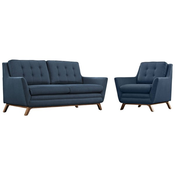 Modway Furniture Beguile Azure 2pc Living Room Set with Loveseat EEI-2432-AZU-SET