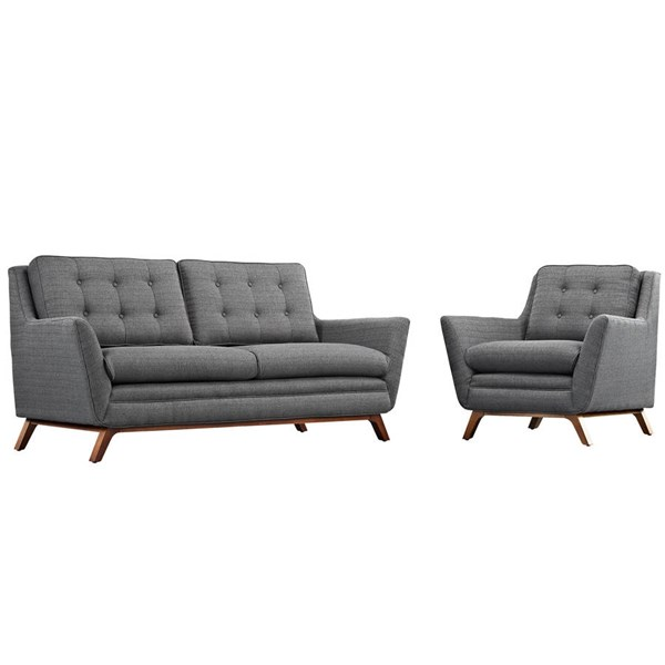 Modway Furniture Beguile Gray 2pc Living Room Set with Loveseat EEI-2432-DOR-SET