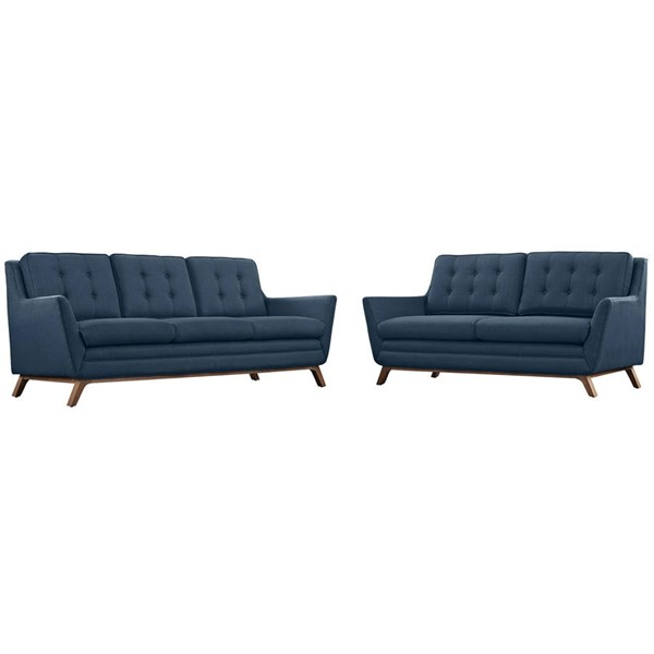 Modway Furniture Beguile Azure 2pc Living Room Set EEI-2434-AZU-SET