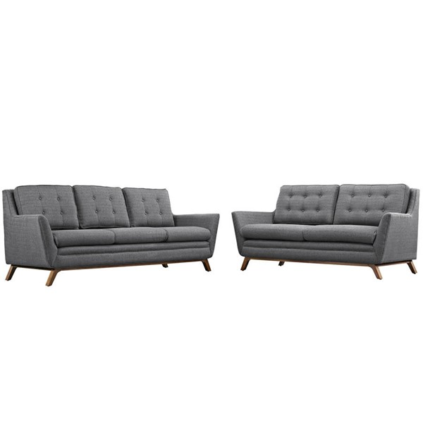 Modway Furniture Beguile Gray 2pc Living Room Set EEI-2434-DOR-SET