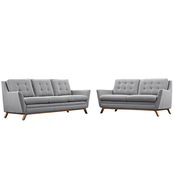 Modway Furniture Beguile Expectation Gray 2pc Living Room Set EEI-2434-GRY-SET