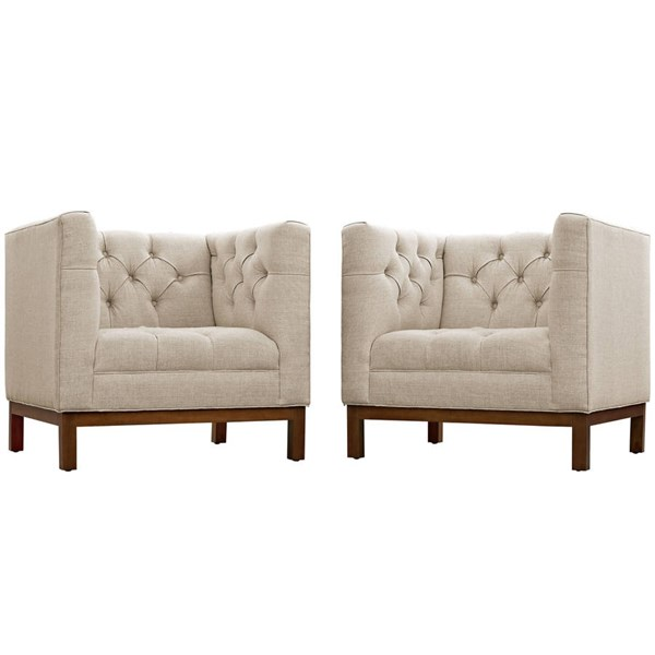 Modway Furniture Panache Beige 2pc Living Room Set EEI-2436-BEI-SET
