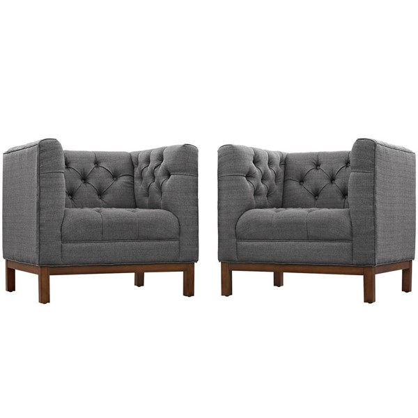 Modway Furniture Panache Gray 2pc Living Room Set EEI-2436-DOR-SET