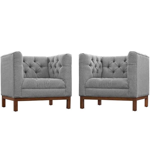 Modway Furniture Panache Expectation Gray 2pc Living Room Set EEI-2436-GRY-SET