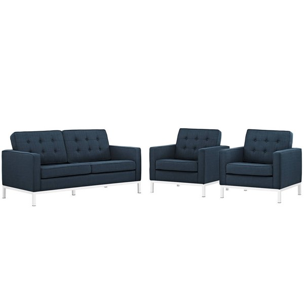 Modway Furniture Loft 3pc Living Room Sets EEI-2438-LR-VAR