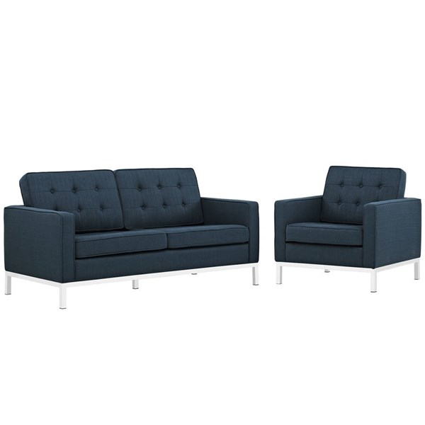 Modway Furniture Loft Azure 2pc Living Room Set EEI-2442-AZU-SET