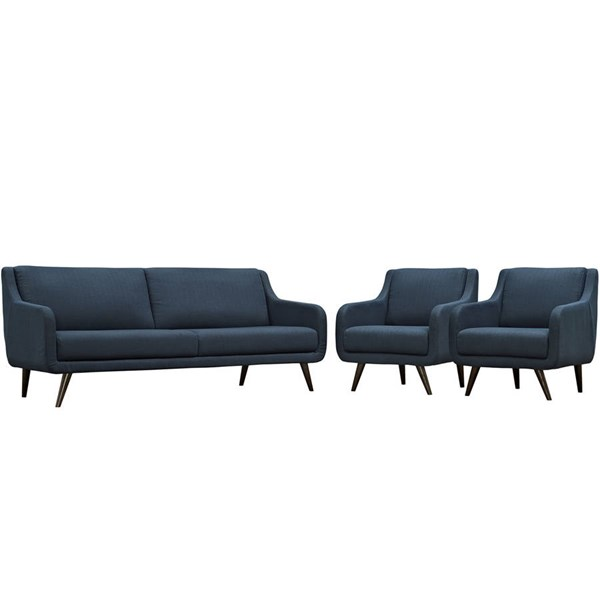 Modway Furniture Verve Azure 3pc Living Room Set EEI-2445-AZU-SET