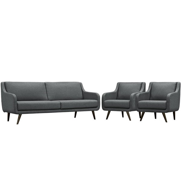 Modway Furniture Verve Gray 3pc Living Room Set EEI-2445-GRY-SET