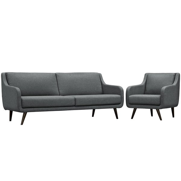 Modway Furniture Verve Gray Cushion 2pc Living Room Set EEI-2447-GRY-SET