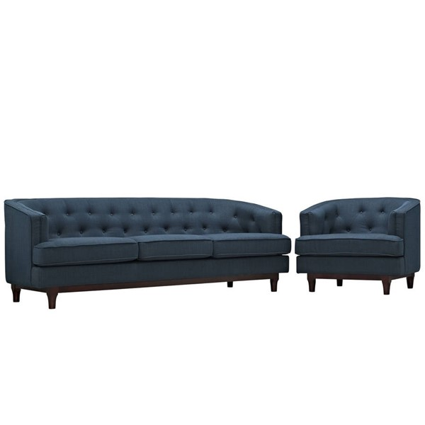 Modway Furniture Coast Fabric 2pc Living Room Sets EEI-2450-SET-VAR