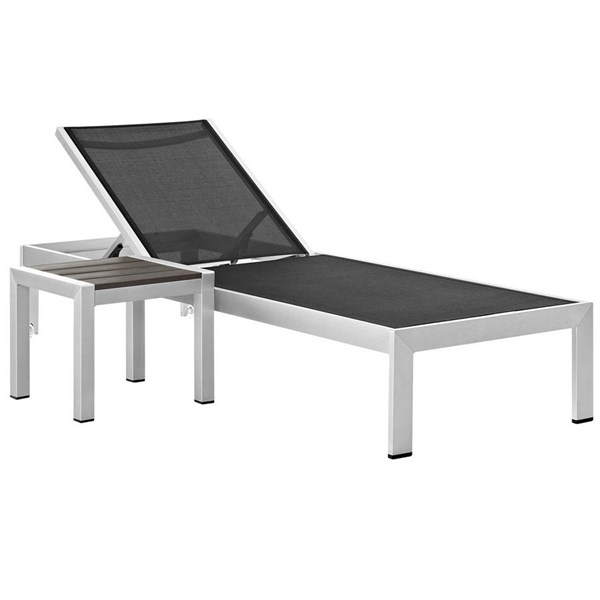 Modway Furniture Shore 2pc Outdoor Chaise and Side Table Sets EEI-2470-SET-OCHS-VAR