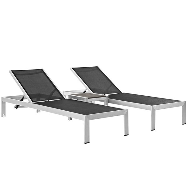 Modway Furniture Shore 3pc Outdoor Chaise and Side Table Sets EEI-2471-SET-OCHS-VAR