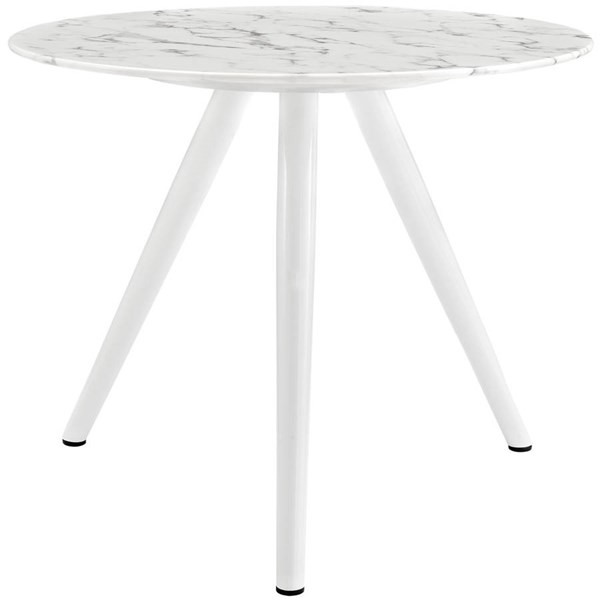 Modway Furniture Lippa 36 Inch Round Artificial Marble Dining Table with Tripod Base EEI-2522-WHI
