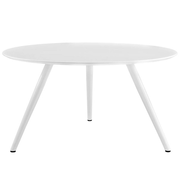 Lippa White Wood Top Metal Tripod Base 54 Inch Round Dining Table EEI-2524-WHI