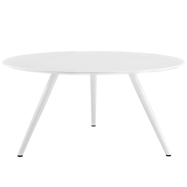 Modway Furniture Lippa 60 Inch Round Wood Top Dining Table with Tripod Base EEI-2525-WHI