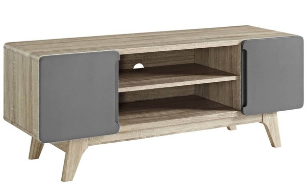 Modway Furniture Tread Natural Gray 47 Inch TV Stand EEI-2532-NAT-GRY