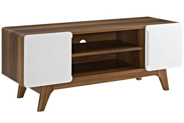 Modway Furniture Tread Walnut White 47 Inch TV Stand EEI-2532-WAL-WHI