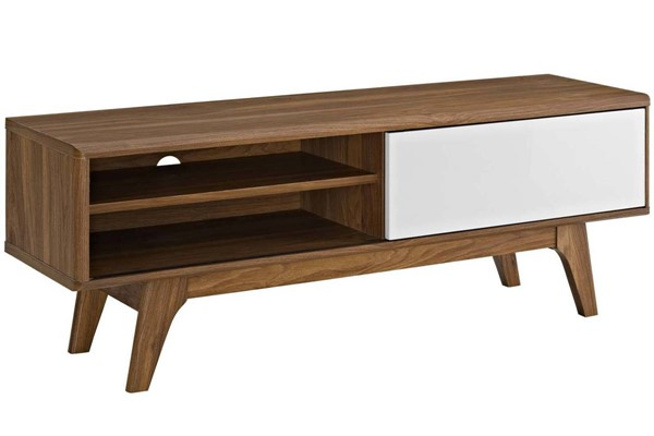 Modway Furniture Envision Walnut White 44 Inch TV Stand EEI-2538-WAL-WHI