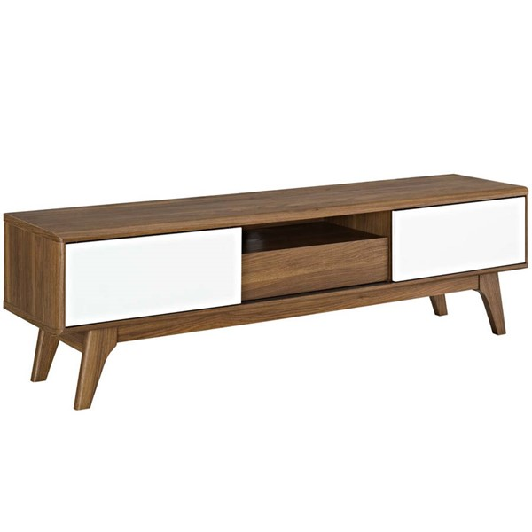 Modway Furniture Envision Walnut White 59 Inch TV Stand EEI-2540-WAL-WHI
