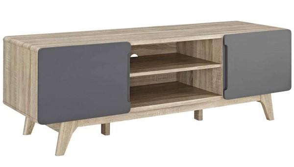 Modway Furniture Tread Natural Gray 59 Inch TV Stand EEI-2543-NAT-GRY