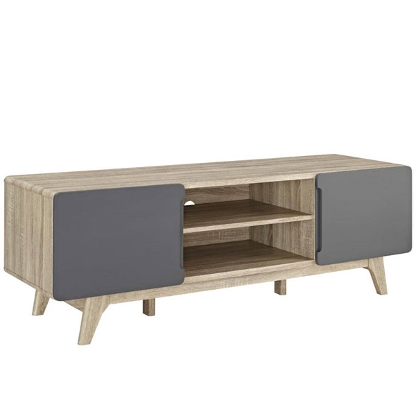 Modway Furniture Tread Natural Gray 59 Inch TV Stands EEI-2543-TS-VAR