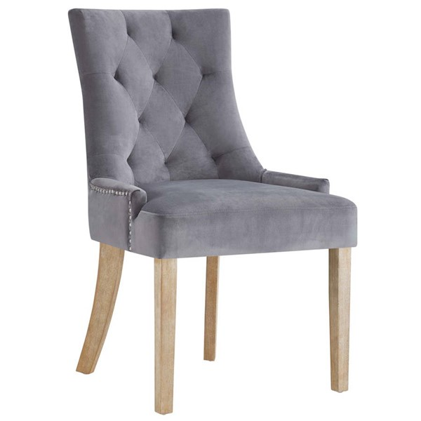 Modway Furniture Pose Gray Velvet Dining Chair EEI-2577-GRY