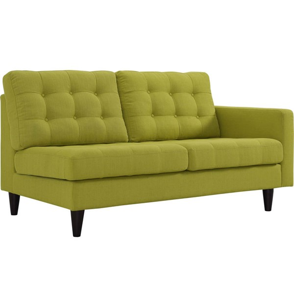 Modway Furniture Empress Wheatgrass Right Facing Upholstered Loveseat EEI-2595-WHE