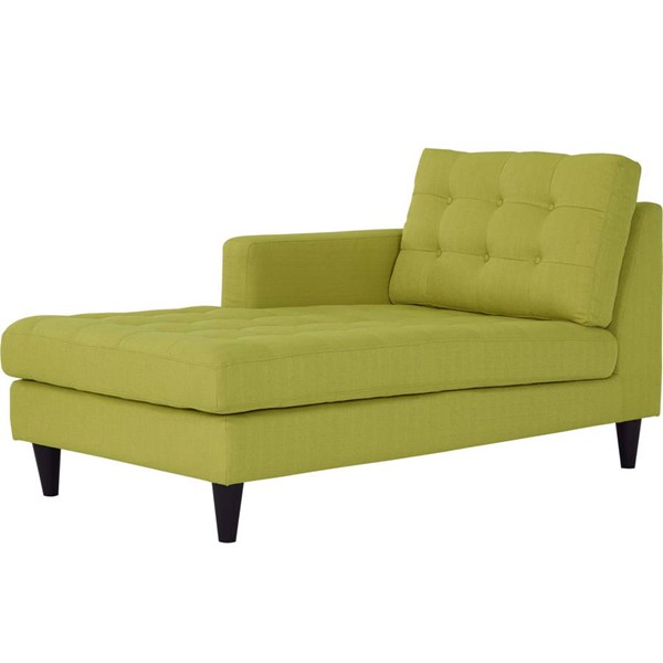 Modway Furniture Empress Wheatgrass Left Arm Upholstered Chaise EEI-2596-WHE