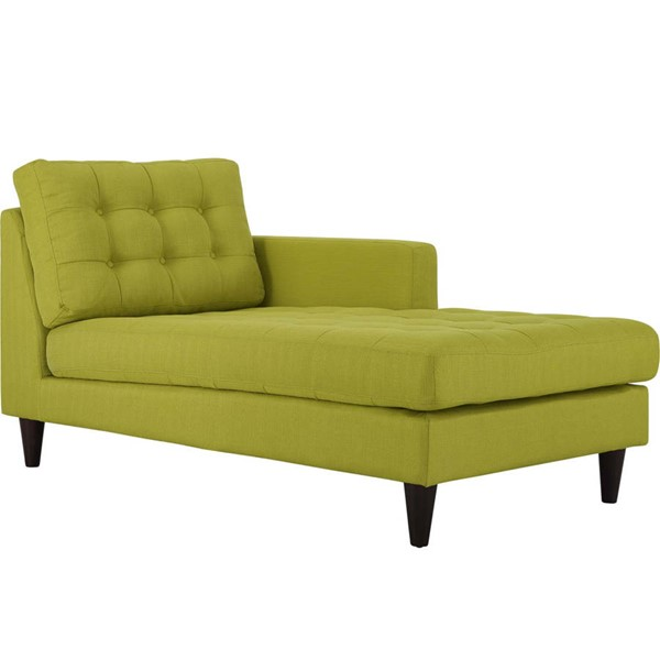 Modway Furniture Empress Wheatgrass Right Arm Upholstered Chaise EEI-2597-WHE