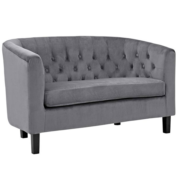 Modway Furniture Prospect Gray Velvet Loveseat EEI-2615-GRY