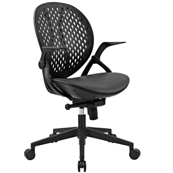 Modway Furniture Stellar Vinyl Office Chair EEI-2653-BLK
