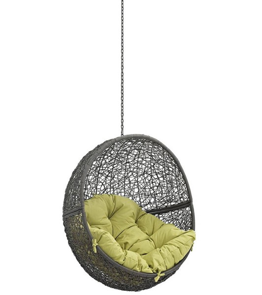 Modway Furniture Hide Gray Peridot Outdoor Swing Chair Without Stand EEI-2654-GRY-PER